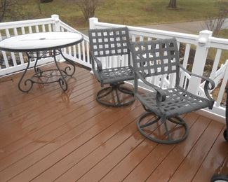 Great outdoor furniture!  Rocking chairs!