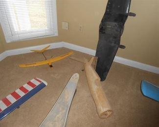 Wooden plane etc