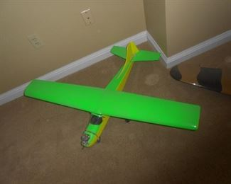 Mint green handcrafted single-engine plane