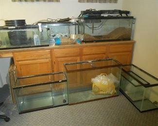 Many fish tanks too!