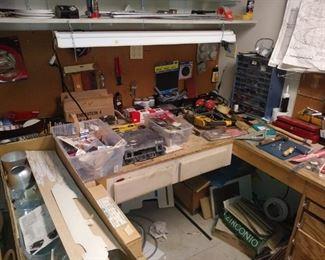 Basement workroom