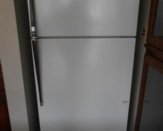 The fridge is in the basement bar area
