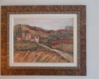 Metal framed art