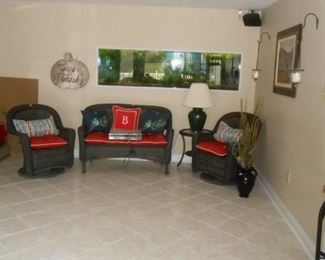 Family room in the basement