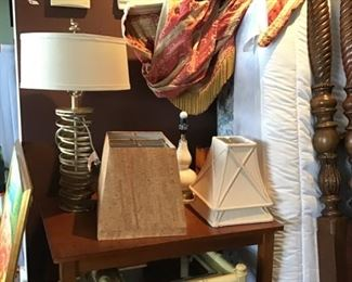 many side tables, more lamps