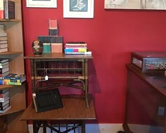 more art, side tables, jewelry, books