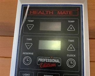 nearly-new Health Mate Enrich walk-in sauna