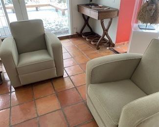 Pair of Hughes Chevalier chairs