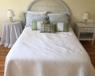 Full bed photo, bedding also for sale.