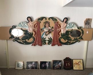 Original Herschell-Spillman Carousel rounding board. These boards are very rare and all hand carved.  This board was restored by Internationally known Tony Orlando in the 90's, no not the singer lol. This is a one of a kind. Great art piece to hang or could be a Headboard that no other in the world would have. A great piece of Carousel history.