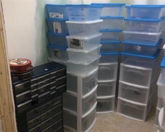 more storage totes and metal multi drawer storage bins