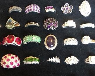 Fashion rings in multiple sizes