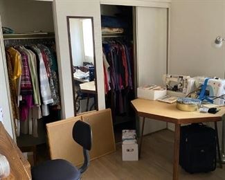 So many closets full of designer and name brand clothing!