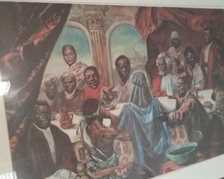 African American The Last Supper by Cornell Barnes