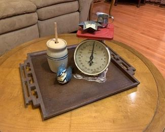This vintage scale would compliment any room!