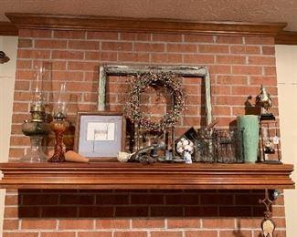 Old lanterns make great farmhouse decor!