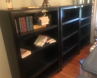 black wooden shelves $80 each or 3 for $200