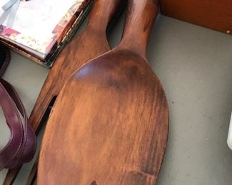 LARGE wooden fork/spoon