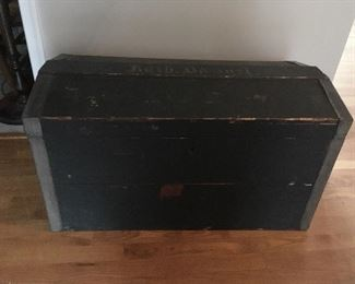 Very Early Antique Dome Top Trunk.
