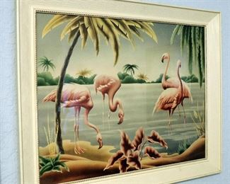 ART DECO FLAMINGO ART