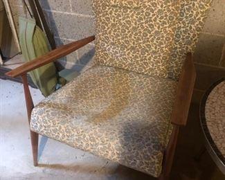 Mid-century modern upholstered chair
