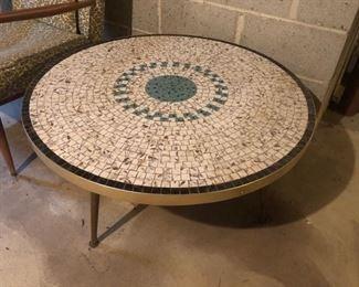 Vintage mosaic tile coffee table