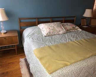 Matching king headboard and mattress set