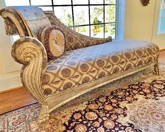 Chaise with custom fabric