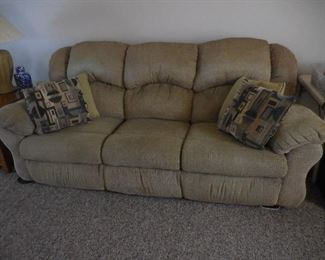 sofa with recliner ends
