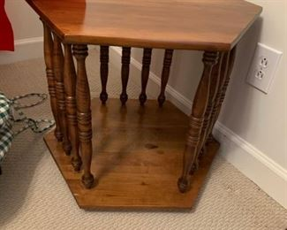 #16		Octangle End Table w/spindles   21x29	 $45.00