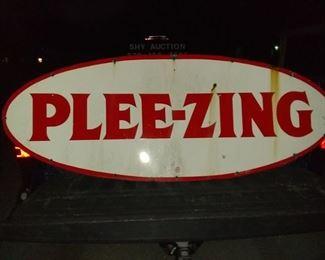Nice Enamel 2x5 Plee-Zing sign