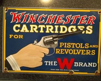 Nice early enamel Winchester sign