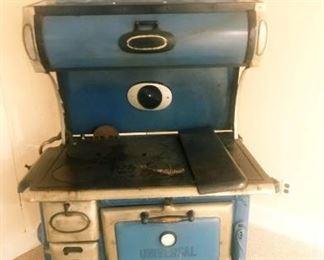 Excellent condition blue enamel stove