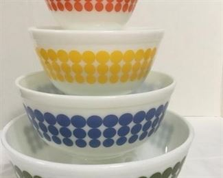 Pyrex Dot Bowl Set. To view details and place a bid visit: https://ctbids.com/#!/storeDetail/177/0