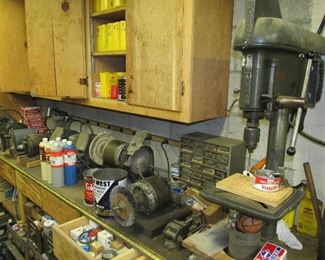 Craftsman drill press and grinders