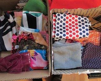 Dozens of scarves