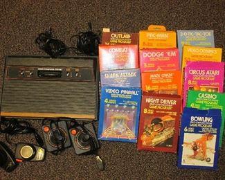 Atari 2600 with games