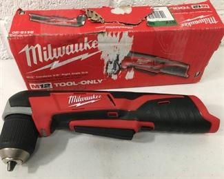 Milwaukee M12 12 Volt Angle Drill.
