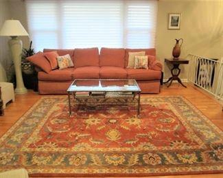 Drexel Ribbed Cotton Sofa
