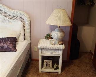 Beautiful white wicker bedroom set