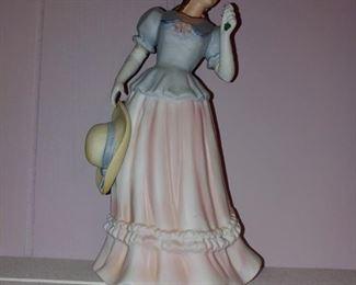 Pretty vintage lady figurines