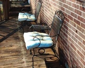 Outdoor Wrought Iron furniture table and chairs