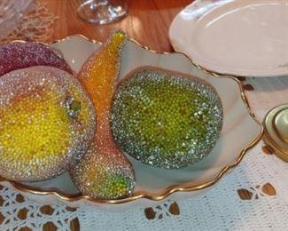 Beautiful sugared artificial fruit in a great Linux bone