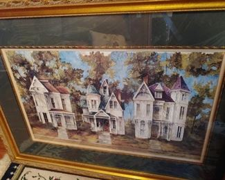Nice limited edition print of Victorian row houses