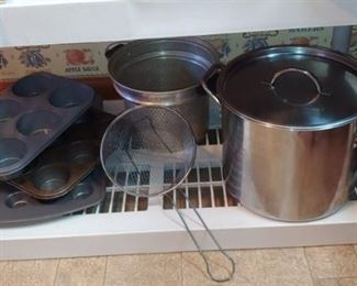 Pots pans and more
