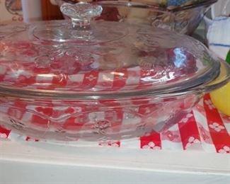 Princess House casserole dish and Bowl