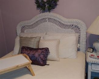 Beautiful wicker bedroom set