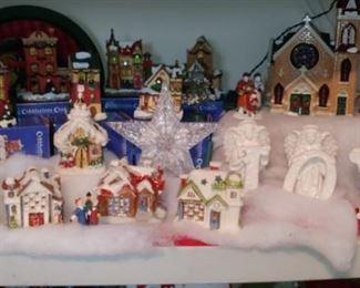 Christmas Village porcelain houses