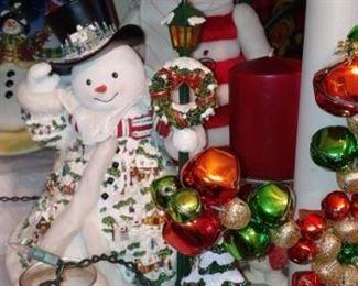 Lots of beautiful snowman items
