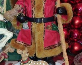 I am loving this gorgeous Santa with a brown fur trimmed coat